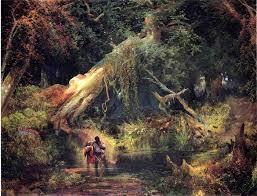 Thomas Moran, Slave Hunt, Dismal Swamp, Virginia, 1862, oil on canvas, Philbrook Museum of Art, Tulsa, Oklahoma, Gift of Laura A. Clubb.